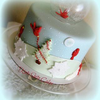 Winter Snow Globe Cake