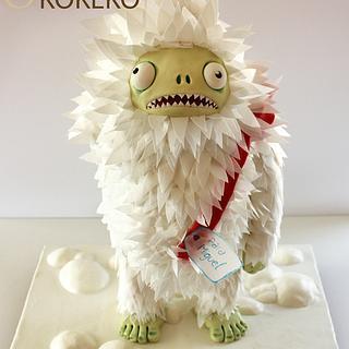 Yeti Zombie Birthday Cake