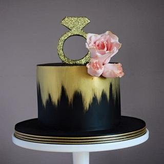 Chic hen party cake
