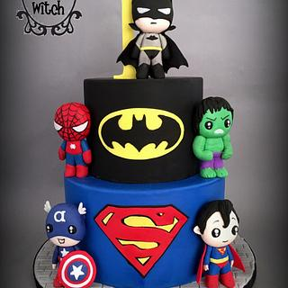 Pop Super Heroes - Cake by Nessie - The Cake Witch
