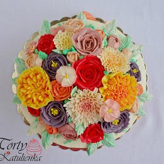 ButterCrem Flower Cake