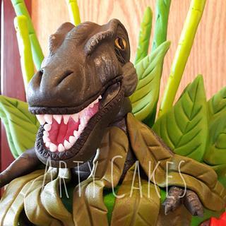 TRex dinosaur  - Cake by Arty cakes