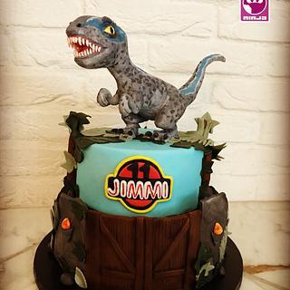 Jurassic park birthday cake  - Cake by SugarNinja