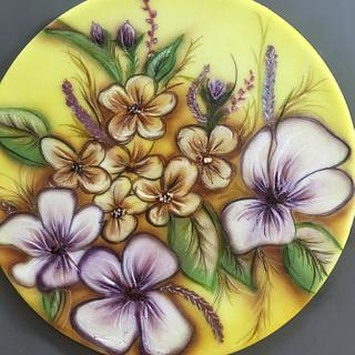 Flowers and airbrush