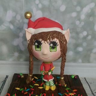Chibi Christmas Elf  - Cake by Bakendipity