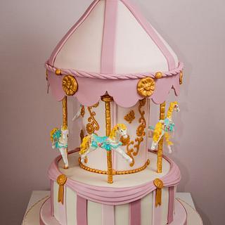 Carousel Cake for my Baby Girl