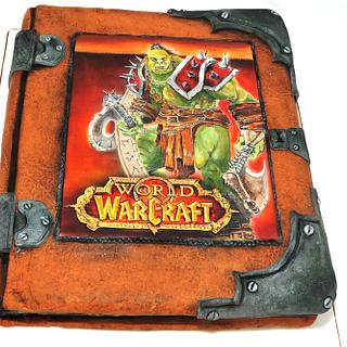 Book Cake - Hand painted World of Warcraft