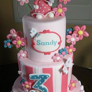 Kitty birthday cake - Cake by sking
