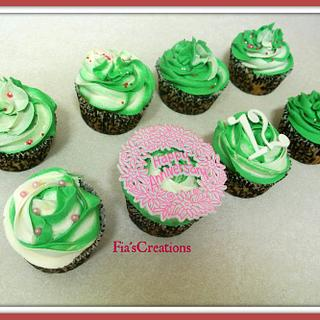 12th Anniversary Cupcakes