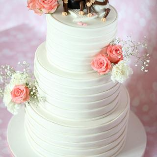 """Unseen Love""-Down a monkey trail! Wedding Cake"