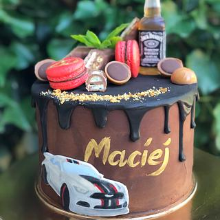 Drip cake hand painted auto