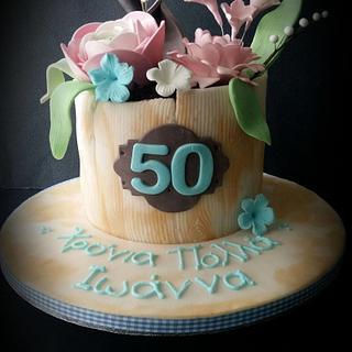Flower Pot  - Cake by LiliaCakes