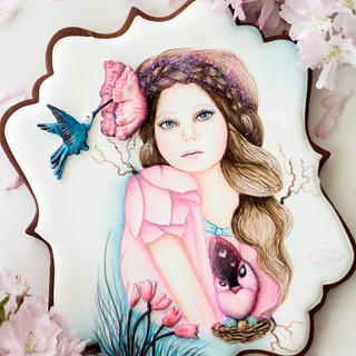 Sheena Pike Inspired Cookie // Primavera con arte Collaboration