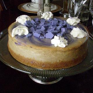 Lavendar and Vanilla Cream Cheesecake