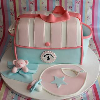 Diaper/Nappy bag for a baby shower - Cake by Cake Creations By Hannah