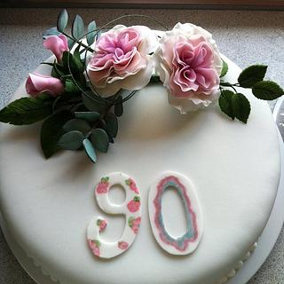 My grandmother turned 90  - Cake by Mette