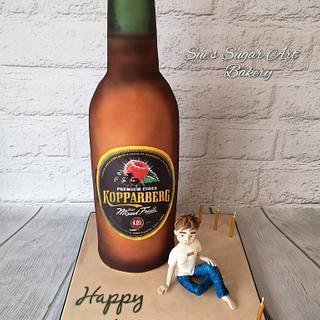 Giant Kopparberg 18th birthday cake