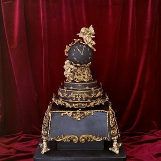 Baroque clock cake