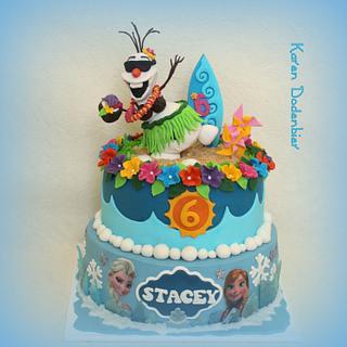 Frozen in the Summer! - Cake by Karen Dodenbier