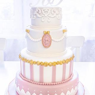 Viennese Wedding Cake - Cake by Art Bakin'
