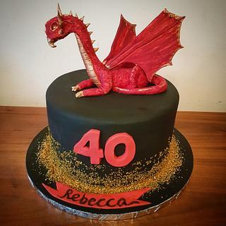 Red Dragon cake - Cake by Stacys cakes