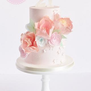 Pastel Floral 21st Birthday Cake - Cake by The Marbeca Bakery