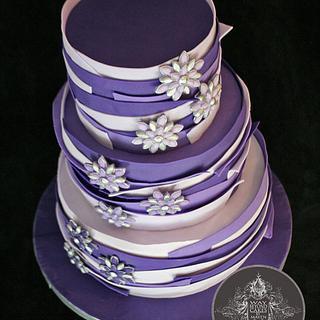 Wild Purple Ombre Cake