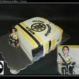 Hockey jersey and guy - Cake by Not Your Ordinary Cakes