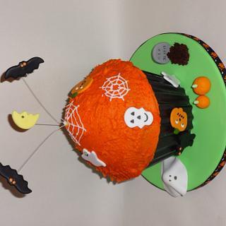 Giant Halloween cupcake