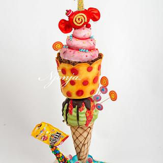 Candy sweets ice cream 3d cake