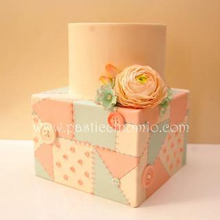 Patchwork Engagement Cake
