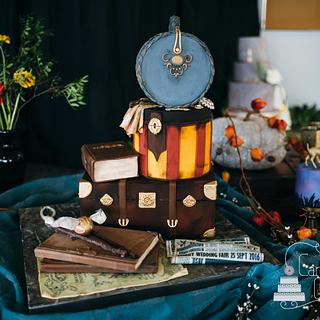Harry Potter inspired wedding cake