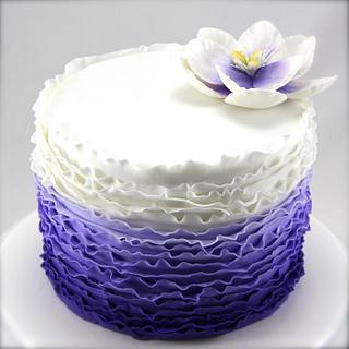 Ombre Purple Ruffle - Cake by Jo Kavanagh