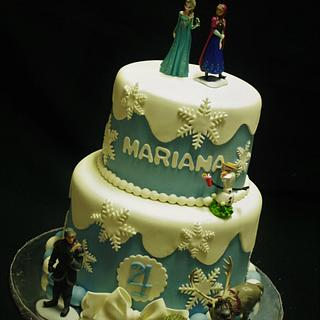Frozen Cake - Cake by CakeCreationsCecilia