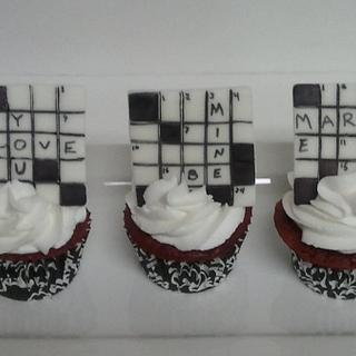 Crossword Puzzle Cupcakes