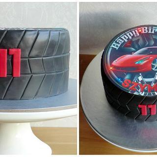 Tire cake - Cake by Aurelia's Cake