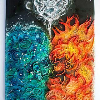 Water and Fire's kiss of love