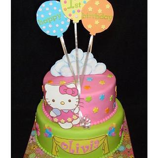 Hello Kitty First Birthday - Cake by Toni (White Crafty Cakes)