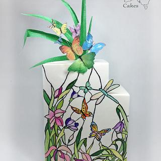 Stained glass butterflies come to life