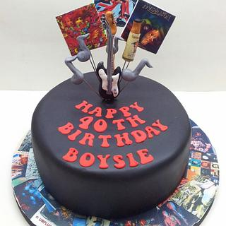 Rockers 40th Birthday Cake