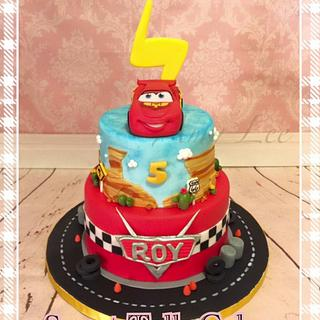 Lighting McQueen cake! - Cake by Vancouver Sugar Arts