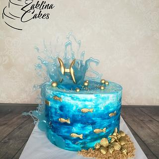 FISH - Zodiac Cake