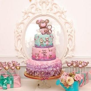 Gymnastics Teddy Bears Cake - Cake by Sheila