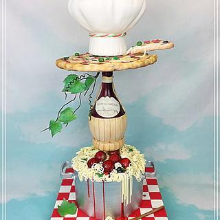 Tower cake viva l'Italia