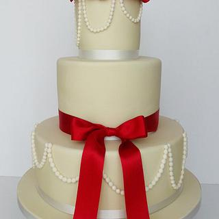 Winter wedding cake