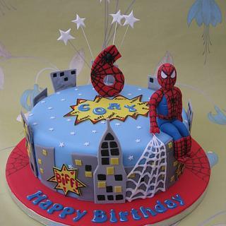 Spiderman birthday cake - Cake by Deborah Cubbon (the4manxies)