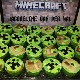 minecraft cup-cakes for school - Cake by Jacqueline
