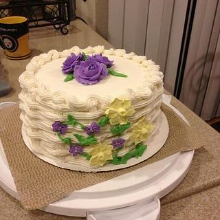 First basket weave cake