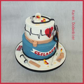 Nurse diploma cake - Cake by Karen Dodenbier