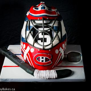 Montreal Canadiens Goalie Helmet Cake